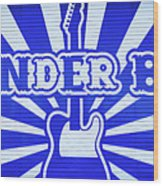Wonder Bar - Sign Wood Print
