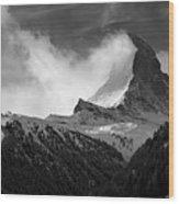 Wonder Of The Alps Wood Print by Neil Shapiro