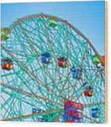 Wonder Wheel Amusement Park 1 Wood Print