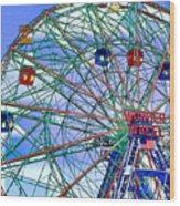 Wonder Wheel Amusement Park 3 Wood Print