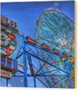 Wonder Wheel Wood Print