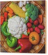 Wonderful Fresh Vegetables Wood Print