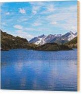 Wonderful Lake San Bernardino In Switzerland. Wood Print