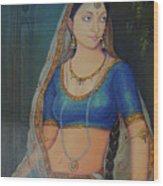 Wonderful Portrait A Lonely Queen Is Waiting For Her Husband To Return From Battle Oil Painting  Wood Print