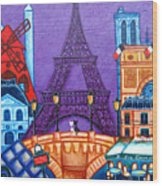 Wonders Of Paris Wood Print