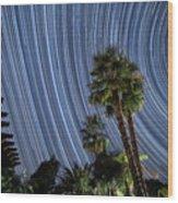 Wonky Star Trails Wood Print