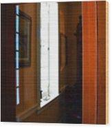 Wood And Glass Door Wood Print