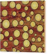 Wood And Gold Wood Print