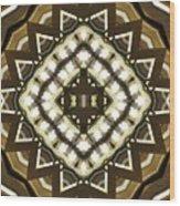 Wood And Light Shield Wood Print