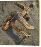 Wood And Sand Wood Print