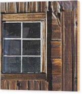Wood And Window Wood Print