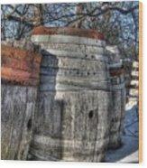 Wood  Barrel Oak Fermentation Whiskey Bourbon Cask Winter Snow Wood Faust Park Wood Print