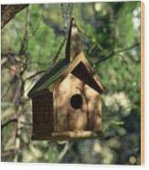 Wood Birdhouse Wood Print