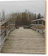 Wood Boardwalk At Valens Wood Print