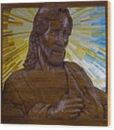 Wood Carving Of Jesus Wood Print