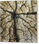 Wood Cross Wood Print by Tina Valvano