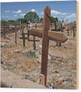 Wood Crosses In Taos Cemetery Wood Print