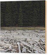 Wood Forest At Duffy Lake Wood Print