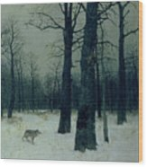 Wood In Winter Wood Print
