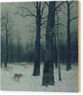 Wood In Winter Wood Print by Isaak Ilyic Levitan