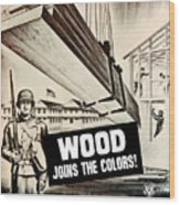 Wood Joins The Colors - Ww2 Wood Print