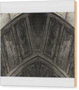 Wood Stone In Sepia Wood Print