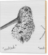 Woodcock With Foot Wood Print