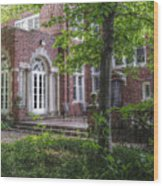 Wooded Manor Wood Print