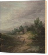 Wooded Upland Landscapewooded Upland Landscape By Thomas Gainsborough, Circa 1783 Wood Print