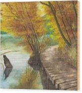 Woodem Bridge Wood Print