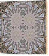 Wooden Art Deco Starbursts Wood Print