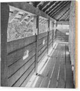 Wooden Balcony Wood Print by Gabriela Insuratelu