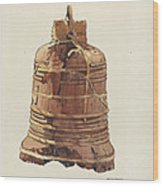 Wooden Bell Wood Print