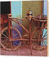 Wooden Bicycle Wood Print