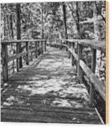 Wooden Boardwalk B Wood Print