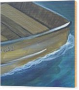 Wooden Boat -rear Wood Print