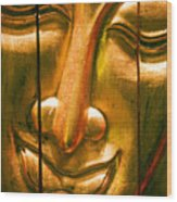 Wooden Buddha Face Wood Print