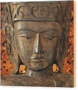 Wooden Buddha Wood Print