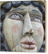 Wooden Carving In Santa Fe 8 Wood Print