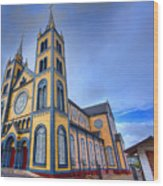 Wooden Cathedral  Wood Print