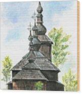 Wooden Church Wood Print
