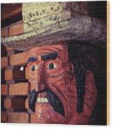 Wooden Cowboy Wood Print