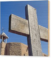 Wooden Cross And Penitente Church Wood Print
