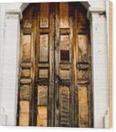 Wooden Door 1 Wood Print