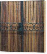 Wooden Door 2 Wood Print