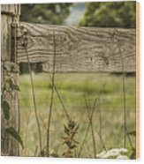 Wooden Fence Post. Wood Print