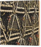 Wooden Lobster Traps Wood Print