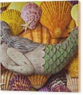 Wooden Mermaid Wood Print by Garry Gay