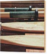 Wooden Oar Pattern Wood Print