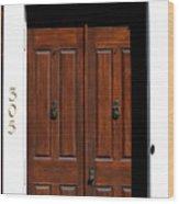 Wooden Portal Wood Print